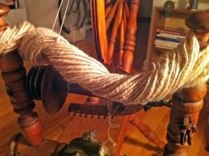 Woolen-spun camel down.
