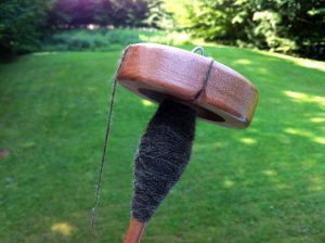 Shetland on a spindle.