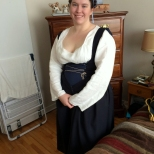 Flemish garb without partlet or sleeves