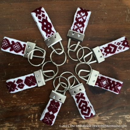 Handwoven Baltic-style inkle keychains